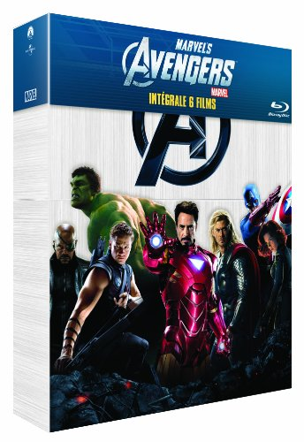 Intégrale Marvel : Avengers + Iron Man + Iron Man 2 + L'incroyable Hulk + Thor + Captain America [Blu-ray]
