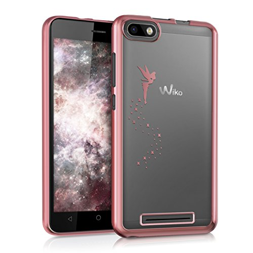 kwmobile Wiko Lenny 3 Hülle - Handyhülle für Wiko Lenny 3 - Handy Case in Pink Transparent