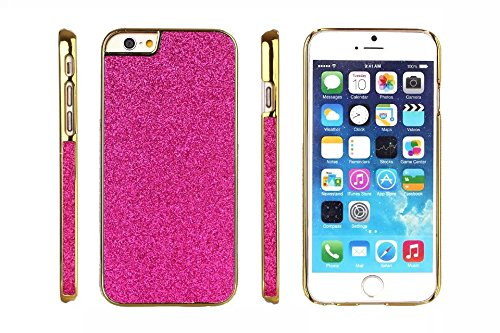 Cas de l'iPhone 6, iPhone Case 6s, Case Cover strass Bling pour iPhone 6 / 6s, Blanc rose
