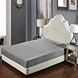Gray-Twin: Moouk Fitted Bottom Sheet, Mattress Protector Cover, Hotel Collection Bed Sheet, Wrinkle