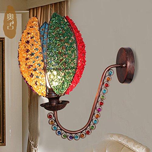 Innovativa Lotus lampada da parete comodino lampada a specchio camera da letto balcone bar corsia (Corsia Crema)