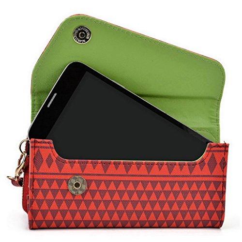 Kroo Pochette/étui style tribal urbain pour HTC Desire 626G +/One M8S Multicolore - Rose Multicolore - rouge