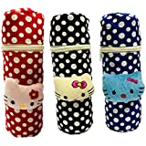 First Trend Baby Feeding Bottle Cover with Soft & Attractive Fancy Cartoon Set of 3 Colors & Designs : Zipper