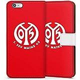 Apple iPhone 6 Flip Tasche Schutz Hülle Walletcase Bookstyle 1. FSV Mainz 05 e.V. Fanartikel Fußball