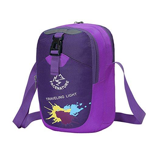 Outdoor-Sport-Umhängetasche/Ein paar casual Messenger Bag/ Urlaub im freien Taschen lila