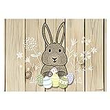 #detailverliebt 30 Oster-Tischsets I DV_091 I Din A3 I Platzsets Platzdecken Tisch-Unterlage aus Papier Beige mit Holzoptik Deko Frühling für Kinder Hase Eier