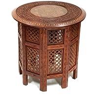 Bella rotonda marrone 53,3cm–Tavolino in legno Sheesham