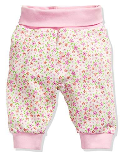 Schnizler Kinder Pump-Hose aus 100% Baumwolle, komfortable und hochwertige Baby-Hose mit elastischem Bauchumschlag, mit Blumen-Muster -