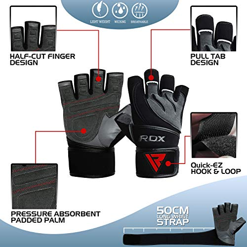 Zoom IMG-2 rdx guanti palestra pelle fitness