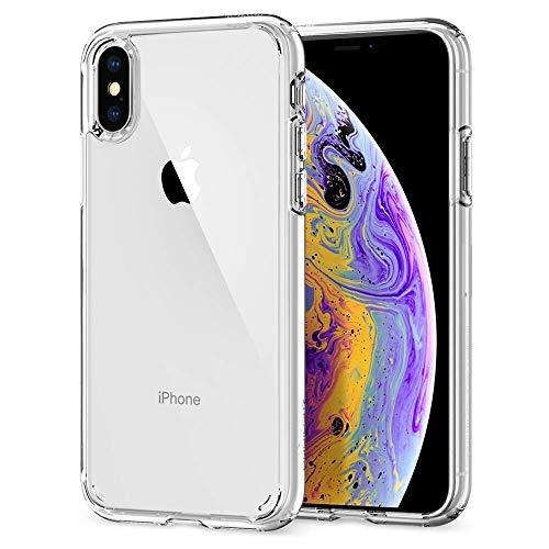 Spigen 057CS22127 Ultra Hybrid Kompatibel mit Phone X Hülle, Einteilige Transparent Durchsichtige Rückschale Schutzhülle Case Crystal Clear