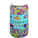 Hama - 211-54 - Midi Pot 13000 Perles - Loisir Créatif - Mélange Paillettes