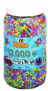 Hama 2671150 Perline a fusione, 13.000 pezzi, Colori pastello, in barattolo