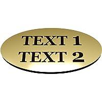 Lot de 4 badges personnalisables dorés pour tous vos employés, membres de l'équipe et employés.