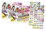 Craze 57231–Slap Snap Bands e klebeo hrringe, Disney Soy Luna, colori assortiti