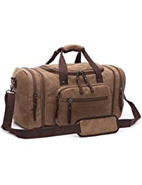 214b9759d5 BAOSHA HB-21 Canvas Holdall Overnight Weekend Bag Travel Duffle Bag  Weekender Bags Sports Shoulder