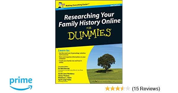 researching your family history online for dummies 2nd edition uk