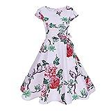 Sonijie Frauen Bodycon Kurzarm Vintage Lässige Retro Abendgesellschaft Prom Swing Dress