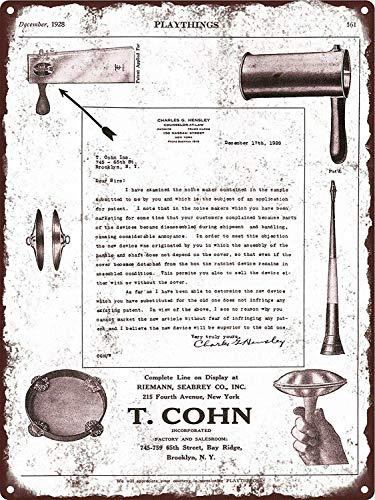 YASMINE HANCOCK 1928 T Cohn Noise Makers Ratchet Horn Metal Plaque Tin Sign Poster Metall Plaque Zinn Logo Poster Wand Kunst Cafe Club Bar Wohnkultur