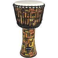 World Rhythm MDJ001-OR - Tambor Djembé (piel de cabra y PVC, 20,3cm), color naranja