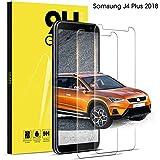 DOSNTO Protectores de Pantalla para Samsung Galaxy J4 Plus 2018 Cristal Templado Transparente Anti-Burbujas