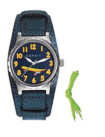 Esprit Jungen-Armbanduhr TP90653 BLUE Analog Quarz Nylon ES906534003