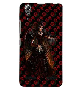 PrintDhaba Dark Angel D-4036 Back Case Cover for LENOVO A6000 PLUS (Multi-Coloured)