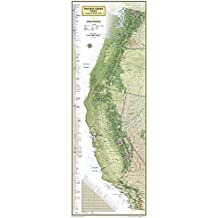 Pacific Crest Trail Wall Map [Laminated] (National Geographic Reference Map)