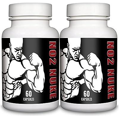 L-Arginine 550mg 120 Capsules NO2 NUKE Pharmaceutical Grade Essential Amino Acid by NO2 NUKE