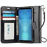 JD Compatible pour HTC U12 Plus Coque, Coque HTC U12, [Stand de Portefeuille] Etui Portefeuille de Protection Antichoc avec Stand pour HTC U12 Plus, HTC U12 - Noir