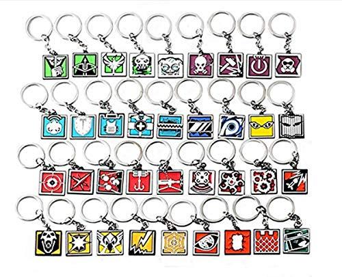 Fashion Jewery Schlüsselanhänger Key Chain Anhänger Rainbow Six RainbowSix Accessoires Neuheit Design Schmuck Premium (Modell 5)