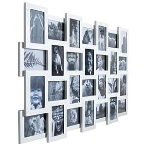 bilderrahmen collage xxl f r 28 bilder 10 x 15 cm mdf holz wei k che haushalt. Black Bedroom Furniture Sets. Home Design Ideas