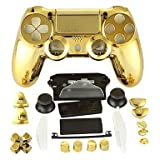 Canamite® Case Hülle Gehäuse Chrome Modding Cover Shell für PS4 Playstation 4 DualShock 4 Controller (Gold)