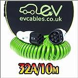 EV Cables CHC003-S(10M) Spiral Schnell Ladekabel