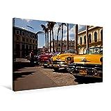 Premium Textil-Leinwand 75 cm x 50 cm quer, US Oldtimer on Havanna, Kuba | Wandbild, Bild auf Keilrahmen, Fertigbild auf echter Leinwand, Leinwanddruck (CALVENDO Orte)
