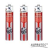 Auprotec® Normfest Karosseriedichtmasse Proton 310ml 1K Kleber überlackierbar schwarz, 3 Kartuschen
