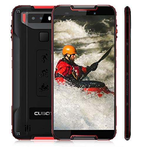 CUBOT Quest Rugged Smartphone in Offerta 4G Android 9.0, Cellulare Resistenti Outdoor 4+64GB Batteria 4000mAh, Telefono Economico Impermeabile IP68 Antipolvere Antiurto GPS/WIFI/FaceID/NFC-Rosso