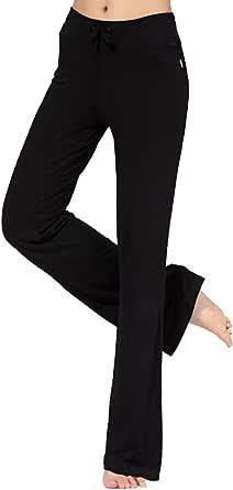 Cayuan Pantaloni Palazzo Donna Comodi Pantalone Largo a Vita Alta con Coulisse Yoga Pilates Casuale Pigiama Pantaloni Femminile
