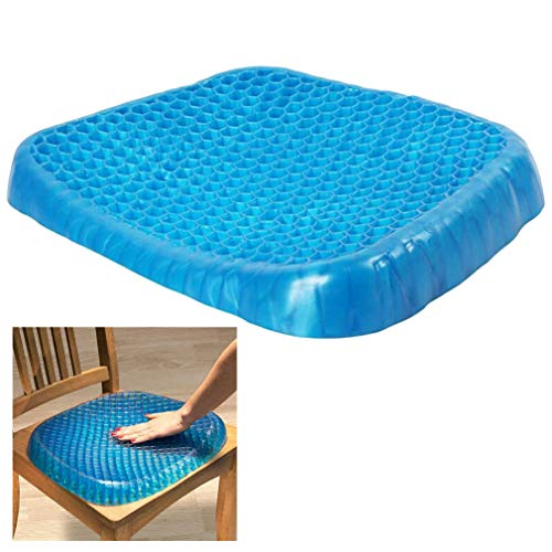 WGE Orthopädisches Steißbein-Gel-Sitzkissen - für unteren Rücken, Steißbein und Sciatica Relief - tragbare Sitzauflage für Büro, Zuhause, Auto, Rollstuhl