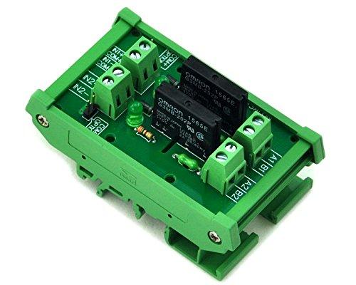 Electronics-Salon 2 canaux Montage sur Rail DIN/à relais statique SSR Interface Module AC100 ~240 V/2 A.