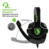 SADES SA708 verdrahtet 3,5 mm Audio Stecker Gaming Headset Kopfhörer Gaming mit Mikrofon (grün) - 2