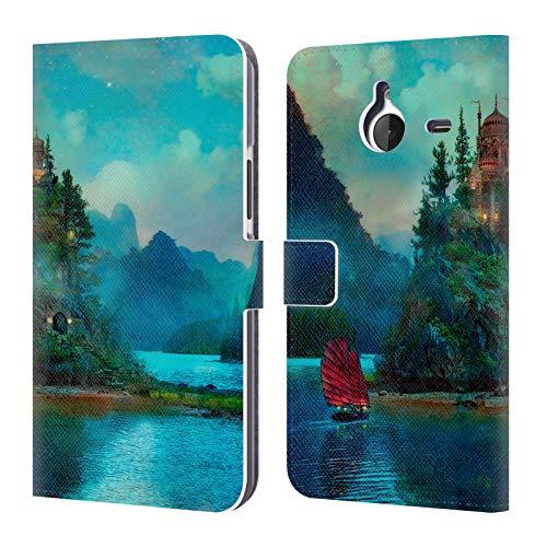 Head Case Designs Offizielle Aimee Stewart Das Ende Von Der Reise Fantasie Brieftasche Handyhülle aus Leder für Microsoft Lumia 640 XL/Dual SIM
