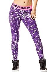 Zumba Fitness Hyper Melt Metallic Long - Pantalones para mujer, color violeta, talla S