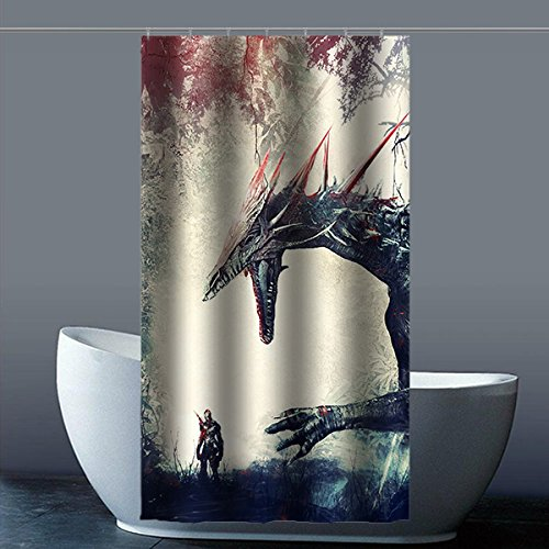 Breaking Dragon Shower Curtain Bathroom Waterproof Polyester Factory 90 Zentimeters Pack A 36 X 72 Inches