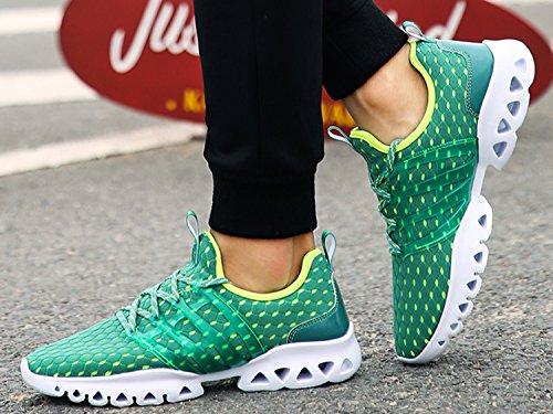 IIIIS-R Herren Damen Laufschuhe Sportschuhe Leicht Turnschuhe Gute Qualität Sneaker Grün