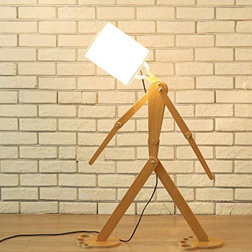 LAMPES DE PLANCHER TORCHIERES ZXC YWXLight DIY Assembly Home Lighting Lampadaire en bois (Couleur : Blanc)