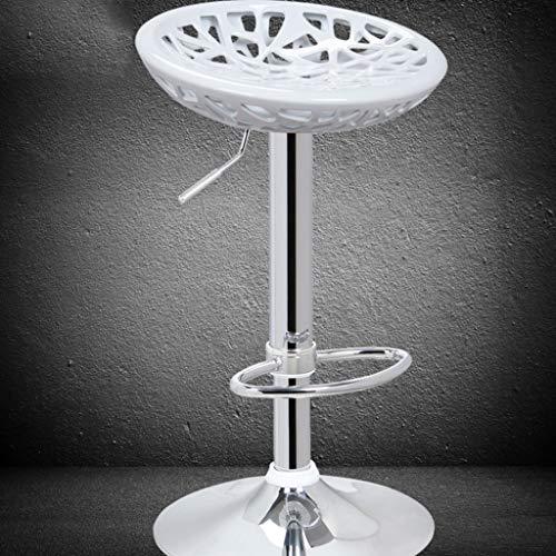 Zxw sgabello- sedia da bar con nido d'uccello (colore : bianca, dimensioni : Ø35.8x60-77cm)