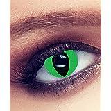 """Lentilles De Contact De Couleur Fantaisie Crazy Lens Cosplay """"MYSA LENS®"""" Yeux De Chat / Oeil De Chat Vert/ Oeil De Serpent / Green Cat Eyes 12 Mois sans correction"""