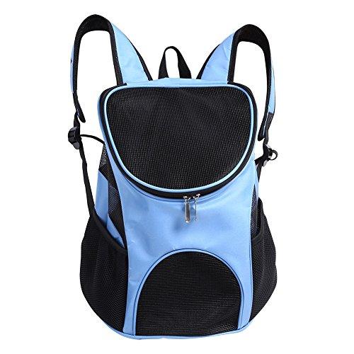 Fdit Bolsa de Hombro Portátil Para Mascotas Mochila de Mascotas Transpirable Portador de Viajes Aire Libre Para Mascotas Perro Gato Conejo(Azul)