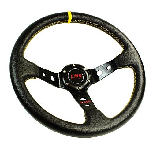 Preisvergleich Produktbild EMS Motorsport Lenkrad 350mm 90mm Rallye Sportlenkrad