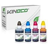 Kineco 4 Tintenbehälter kompatibel für Brother BT6000 BT5000 für Brother DCP-T300 T500W T700W MFC-T800W